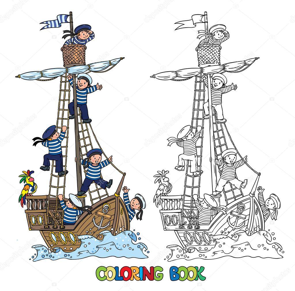 Imágenes Marineros Para Colorear Libro Para Colorear Con