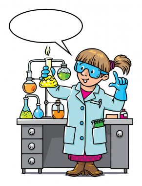 Funny chemist or scientist