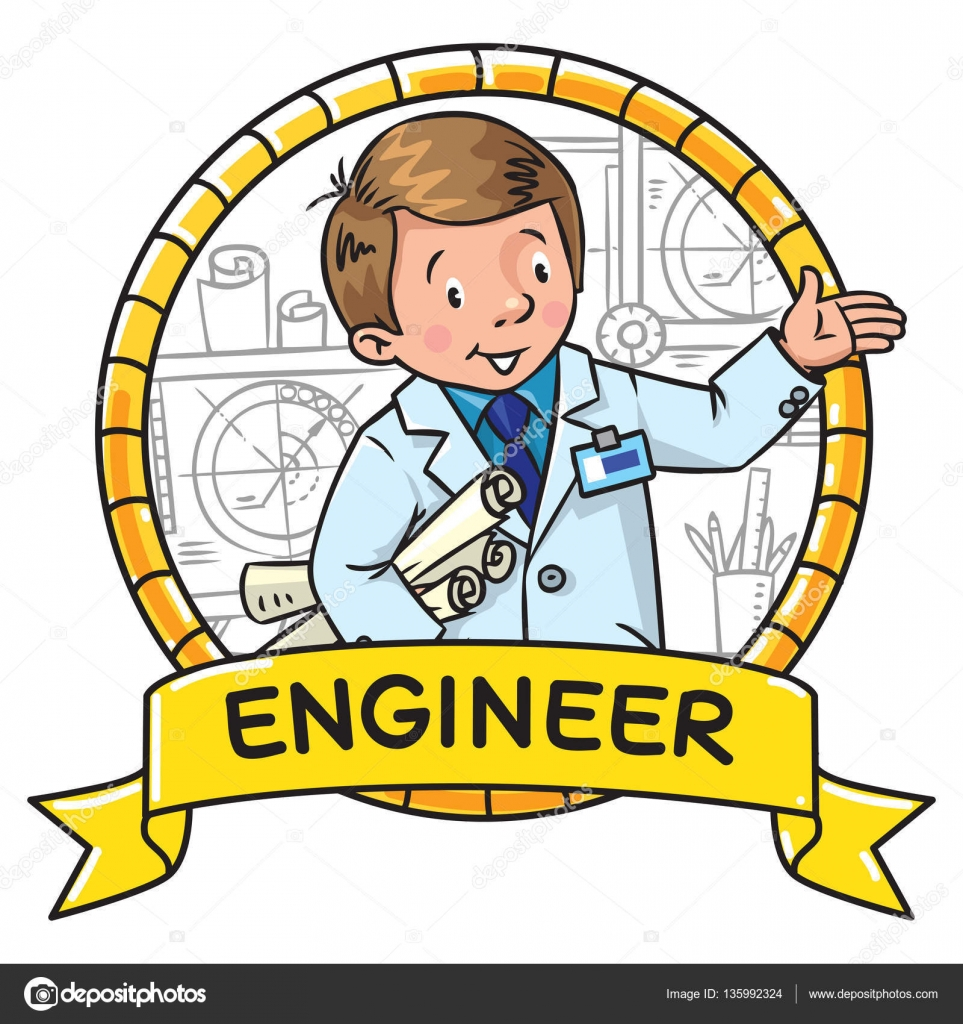 Libro De Colorear De Ingeniero Abc De La Profesión Emblema De