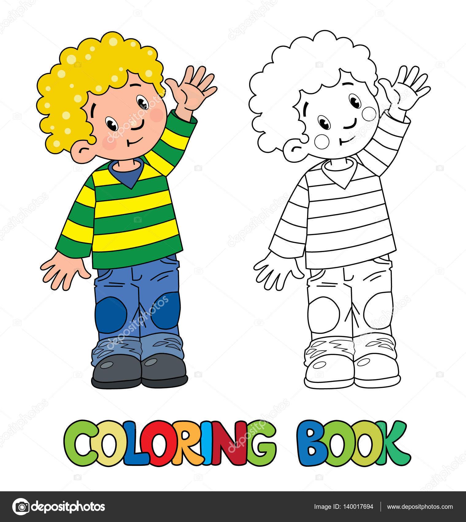 Divertido libro de colorear de niño pequeño — Archivo Imágenes ...