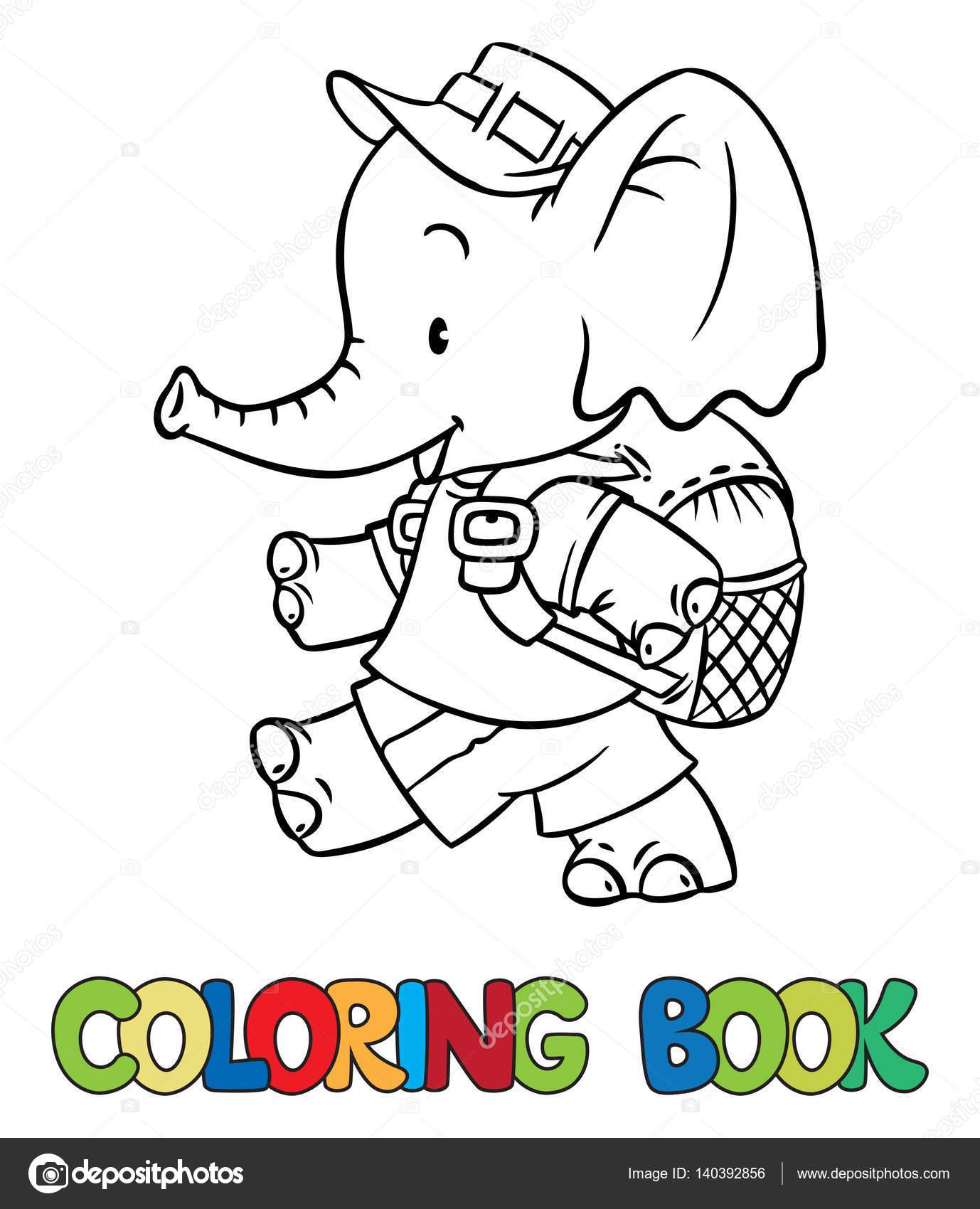 kleurplaat baby olifant krijg duizenden kleurenfoto s