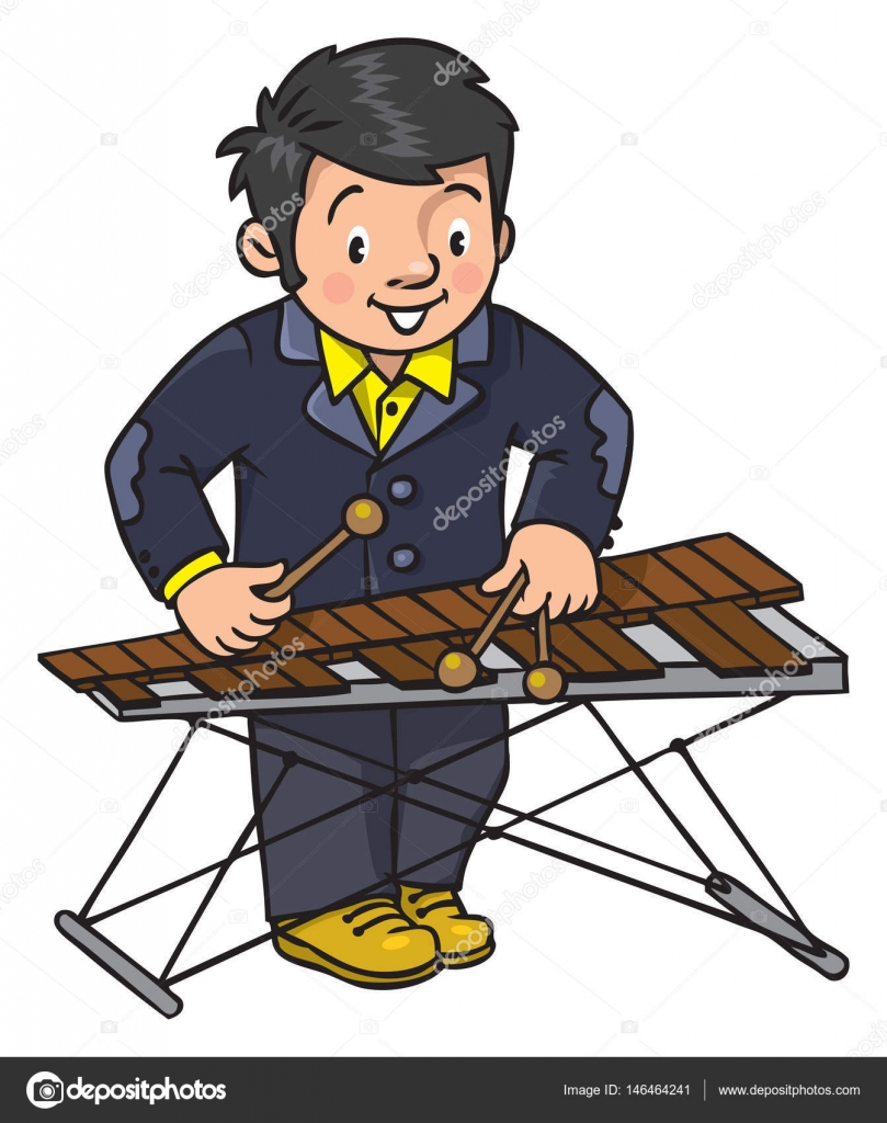 Funny Musician Or Xylophone Player Stock Vector C Passengerz