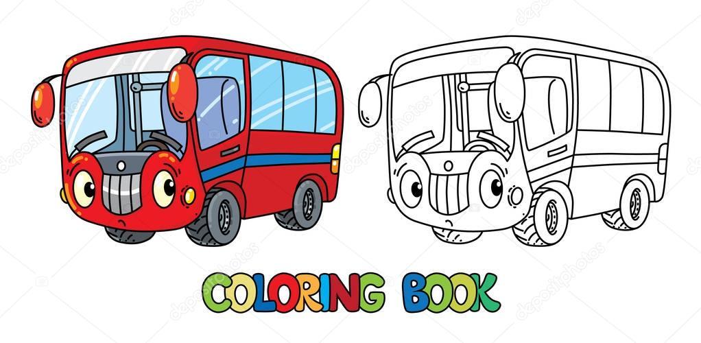 Забавный маленький автобус с глазами. Книжка-раскраска ...