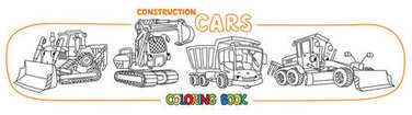 Construction machinery transport coloring book