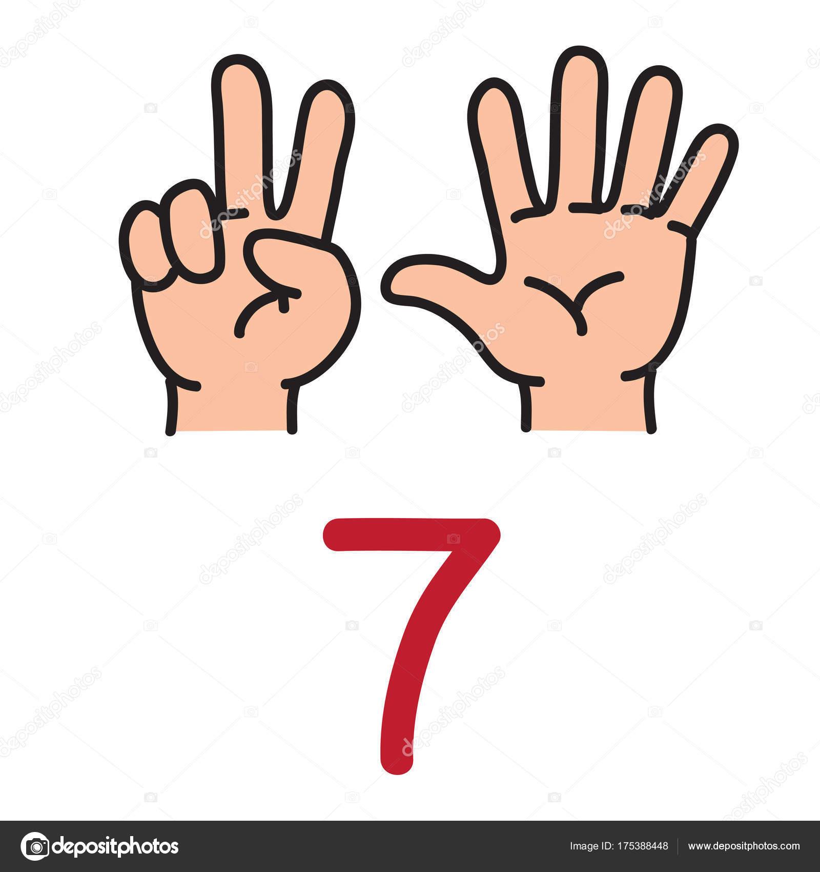 Картинка цифры на пальцах рук
