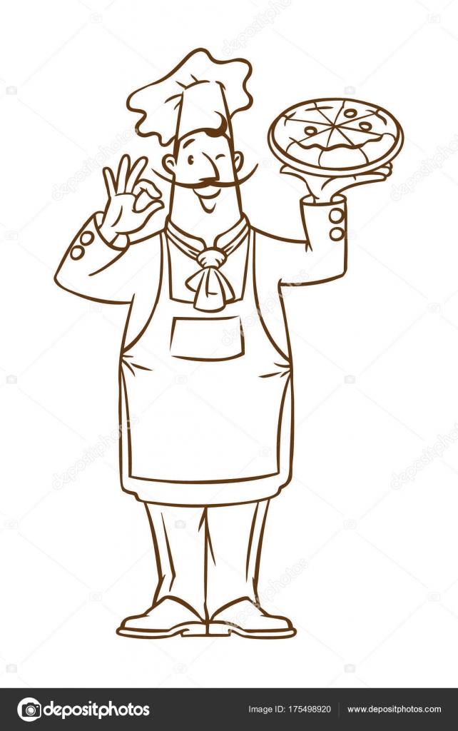 Imágenes: un panadero para pintar | Chef italiano divertido con ...
