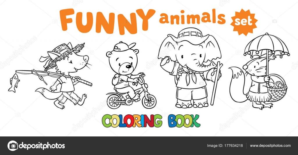Ensemble de livres de drôles de bébés animaux à colorier