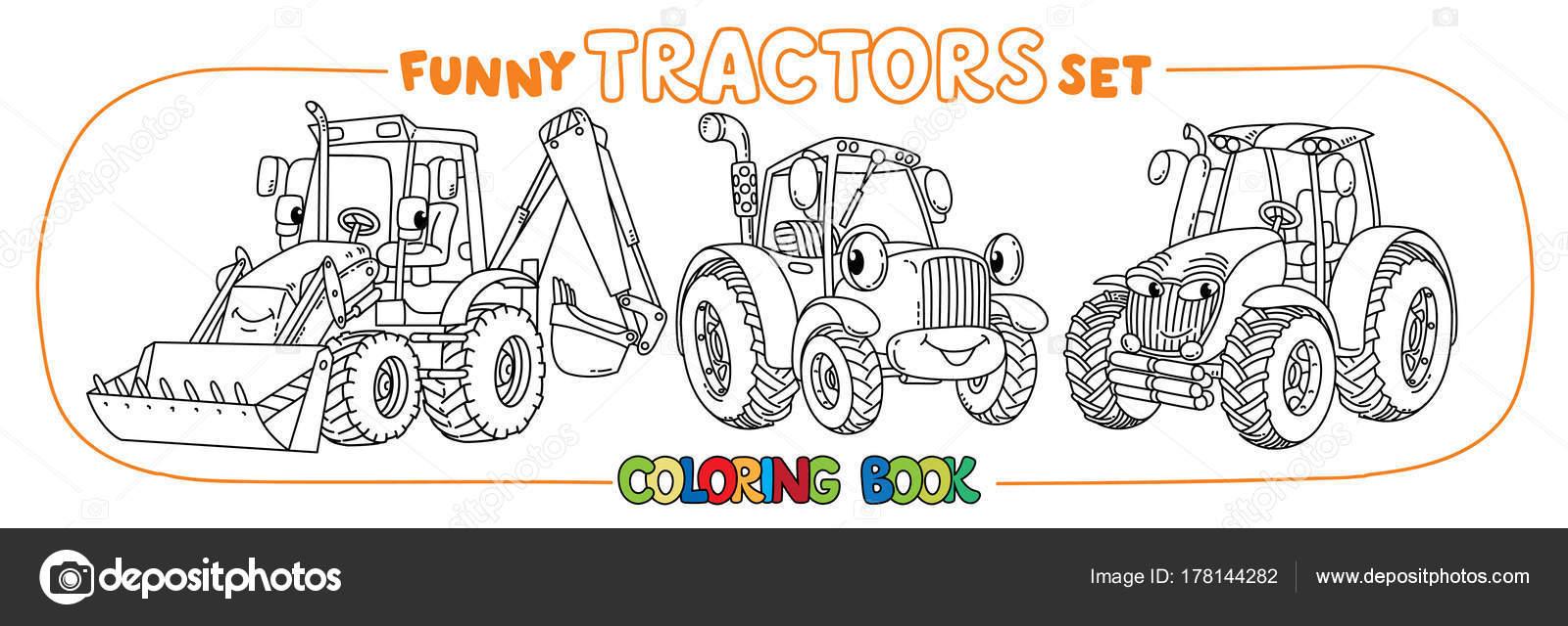 Ojos graciosos para pintar | Tractor pequeño gracioso con ojos ...