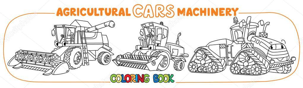 landbouwmachines boek verzameling kleurplaten