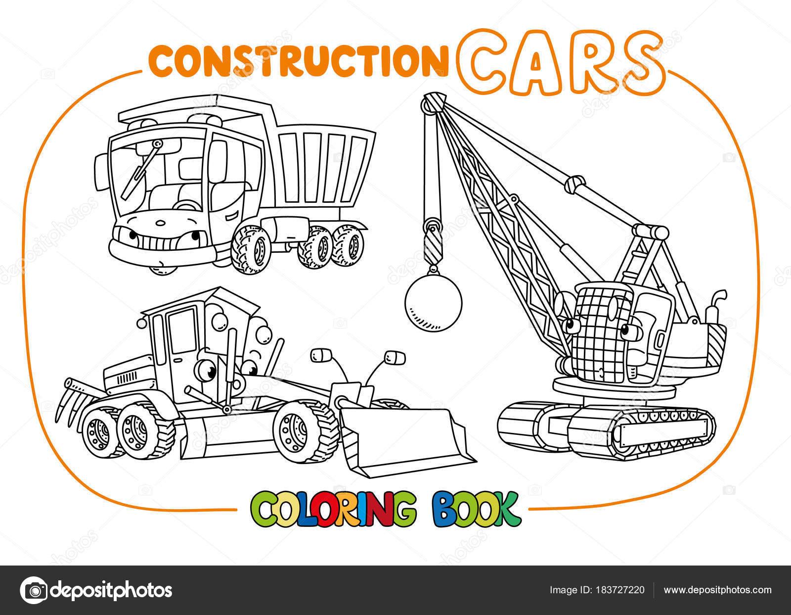 Construcción divertido juego de coches. Libro para colorear ...