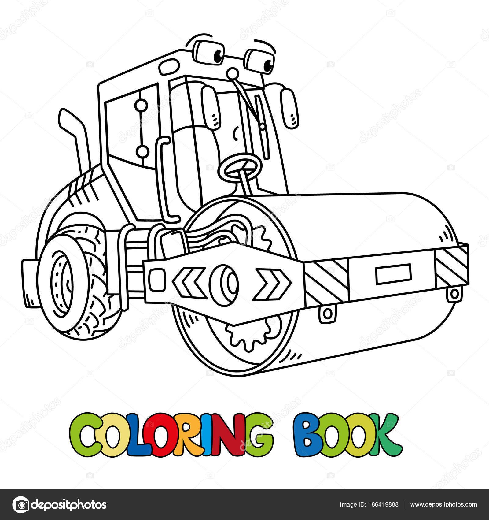 Dibujos Maquinaria De Construccion Para Colorear Coche De