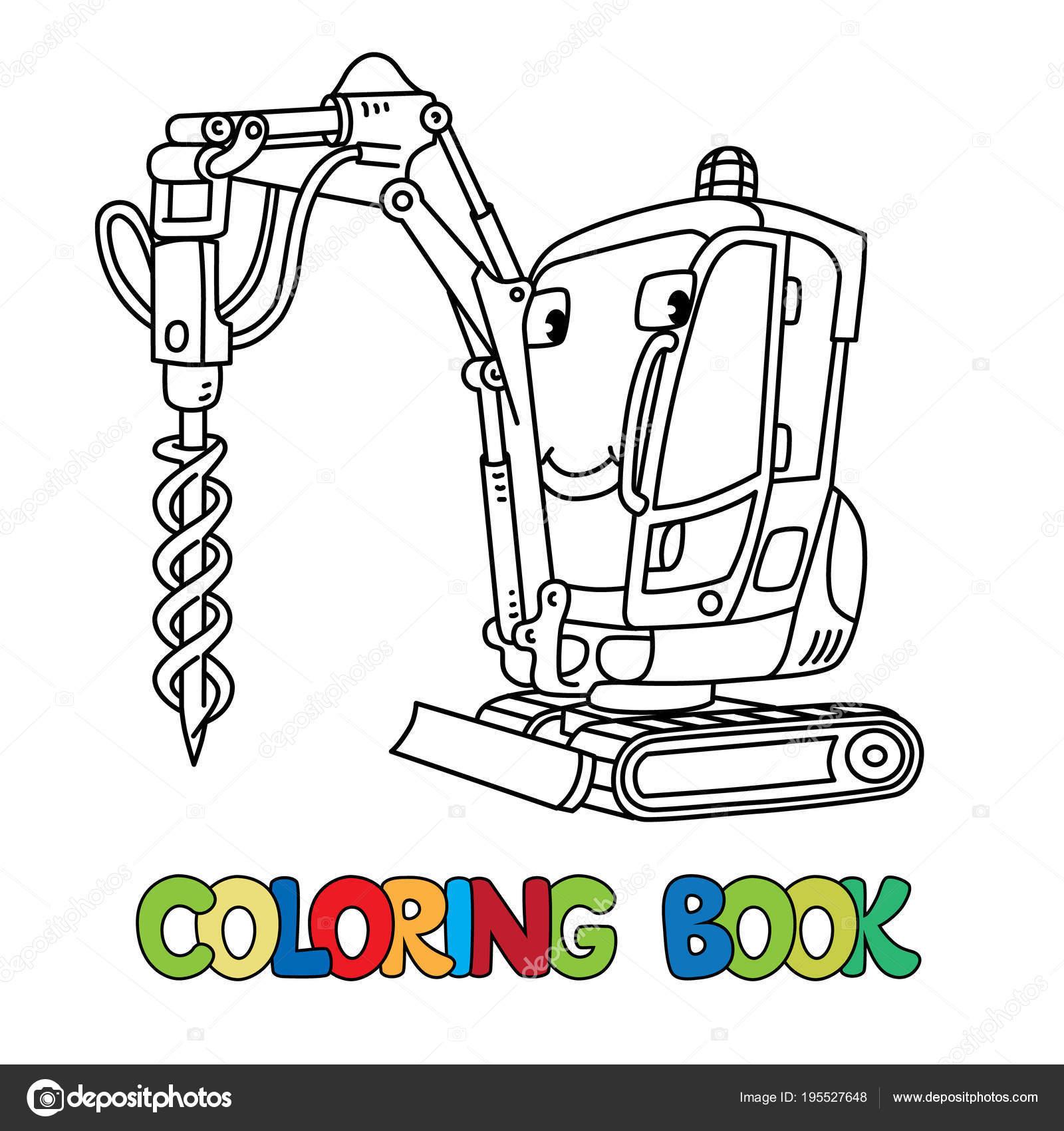 Delme Kamyonet Araba Gözleri Olan Boyama Kitabı Stok