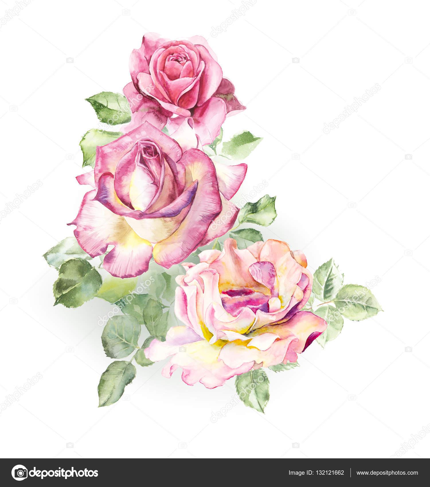 Motif de rose rose dessins de mariage photographie budogosh 132121662 - Fleur rose dessin ...