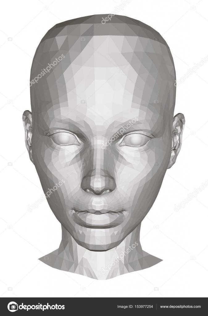 das Gesicht des Mädchens — Stockvektor © Slim3D1 #153977254