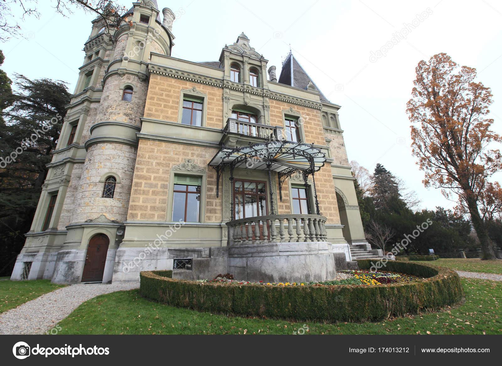 Traditional Swiss Architecture Interlaken Switzerland Stock Photo