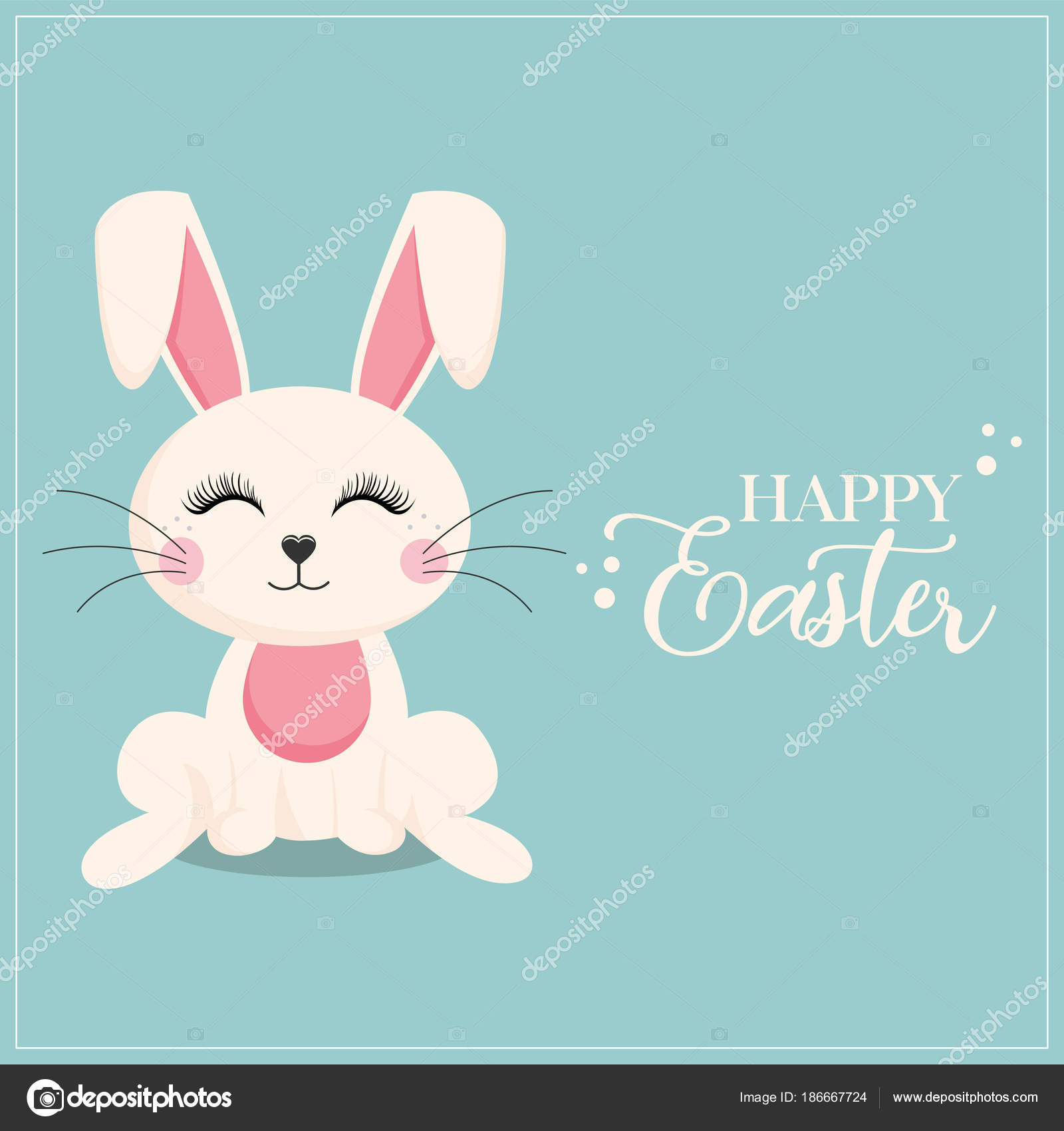 Lustige Osterhasen Und Frohe Ostern Inschrift Auf Blauem Hintergrund