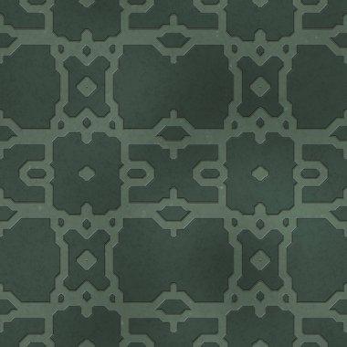 Seamless SciFi Panels. Futuristic texture. Spaceship hull geometric pattern. 3d illustration. Technology concept. stock vector