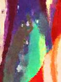 Moderní umění. Barevná moderní kresba. Barevné tahy barvy. Bruštahy na abstraktním pozadí. Malování štětcem.
