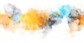 Aquarell bemalten Hintergrund mit Klecksen und Spritzern. Pinselstrich Malerei. 2d Abbildung.