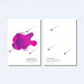 Abstraktní design krytu tvaru. Moderní tekuté tvarové prvky Grafický gradient vektorové barevné ilustrace