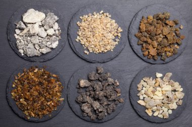 Various kinds of incense: