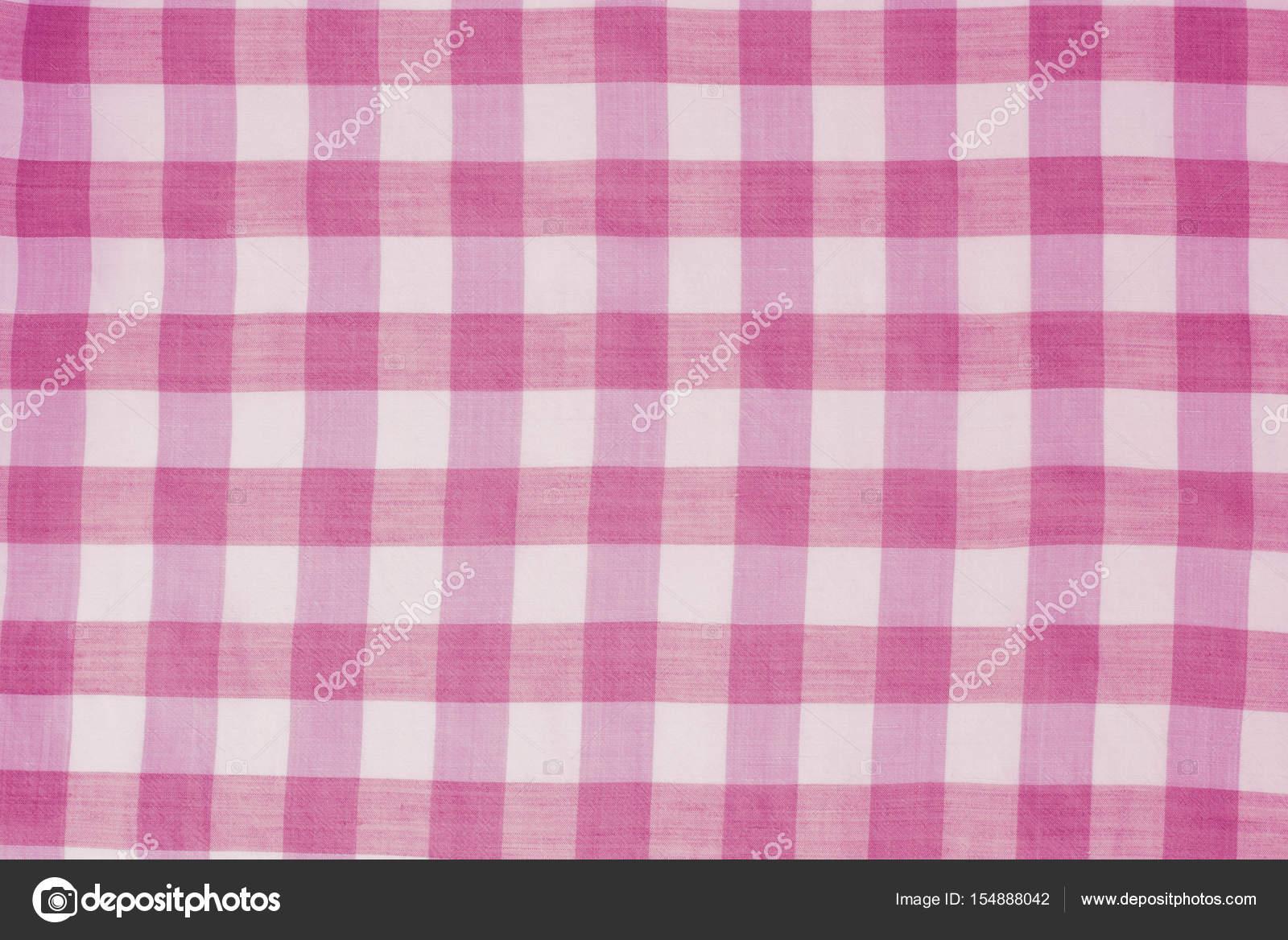 Sfondo Tovaglia Sfondo Di Tovaglia A Quadretti Rosa Foto Stock
