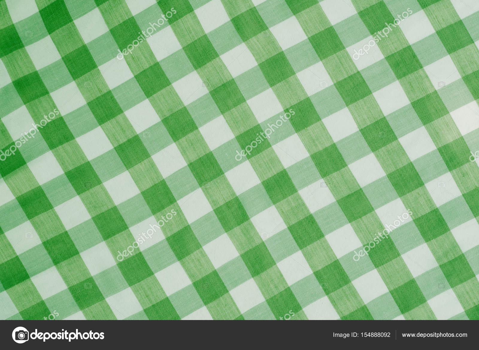 Green Checkered Tablecloth Background U2014 Stock Photo #154888092
