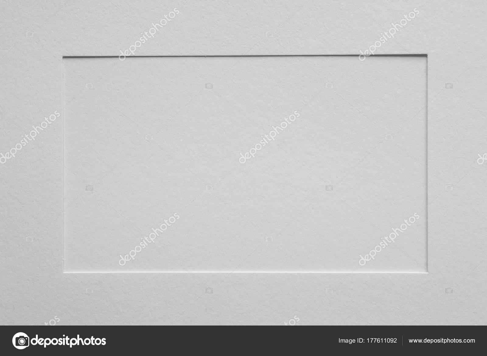 blanco papel vacío cuadro marco picaporte — Foto de stock © aga77ta ...
