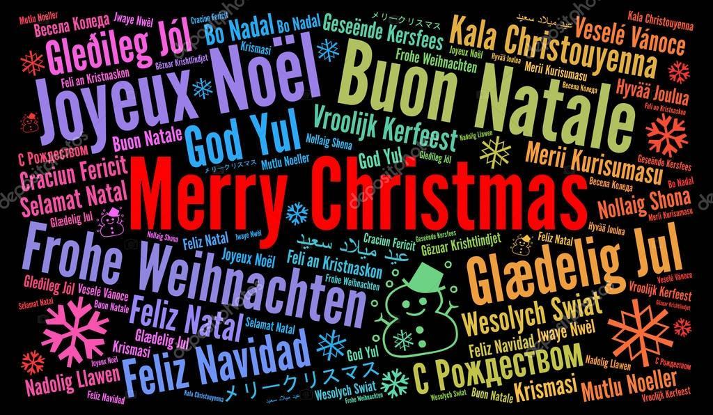 Открытка с рождеством на всех языках