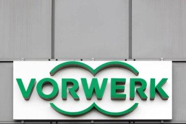Vorwerk logo on a wall