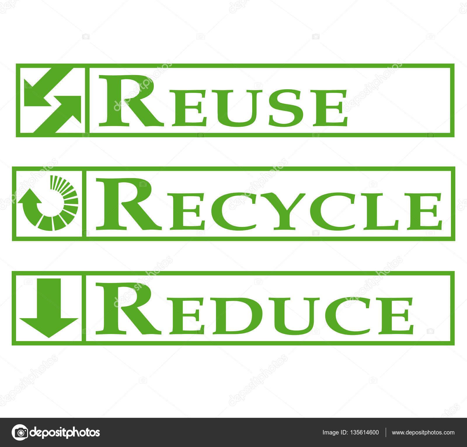 242a78841 reutilizar, reciclar, reducir el — Foto de stock © ricochet69 #135614600