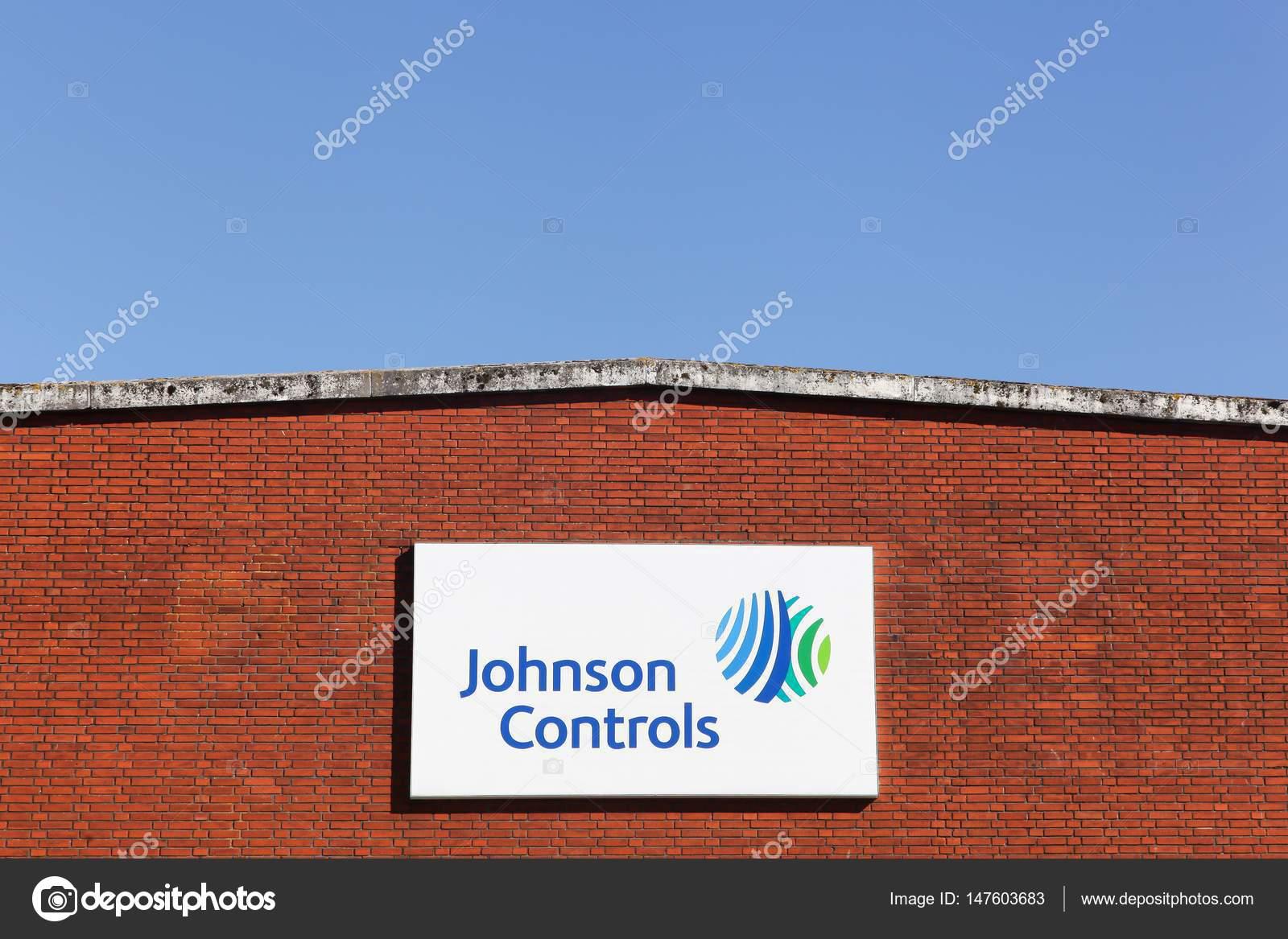Johnson controls logo on a wall – Stock Editorial Photo