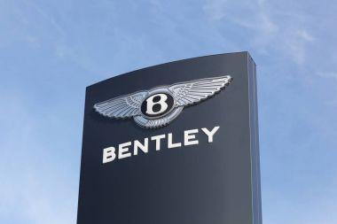 Bentley logo on a panel
