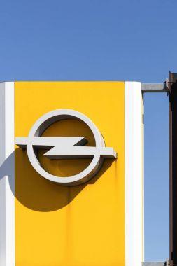 Opel logo on a panel