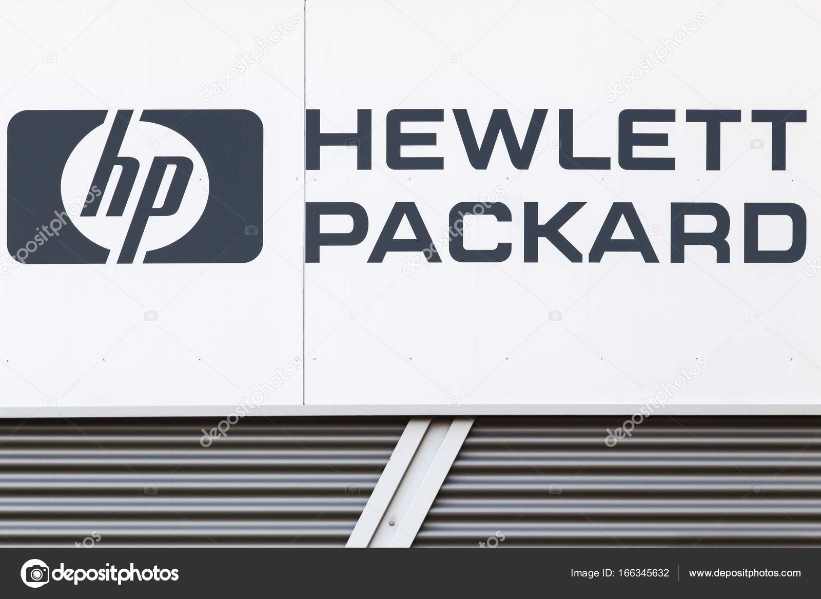Hewlett Packard Sign On A Wall Stock Editorial Photo Ricochet69