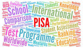 Photo PISA test word cloud concept