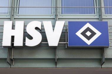 Hamburger SV logo on a wall