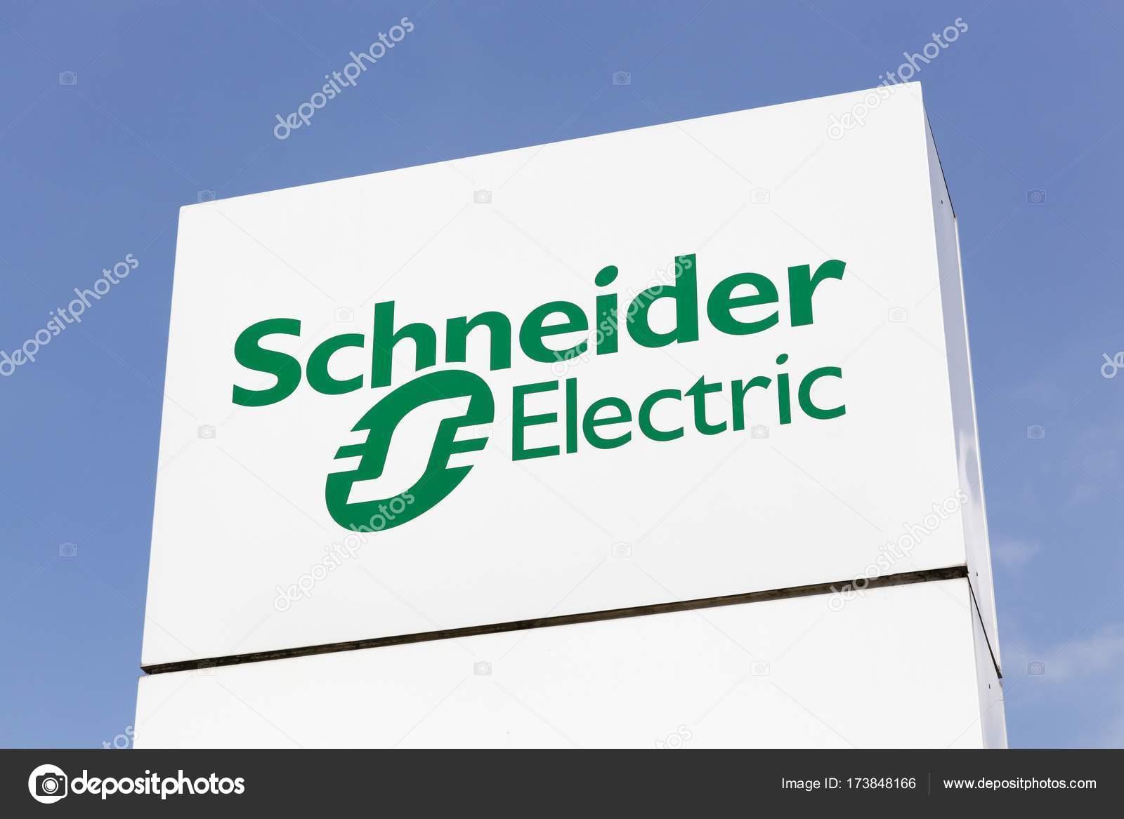 logo di schneider electric su un pannello � foto