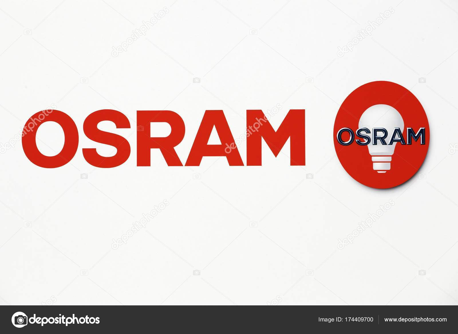 osram logo on a wall stock editorial photo ricochet69 174409700