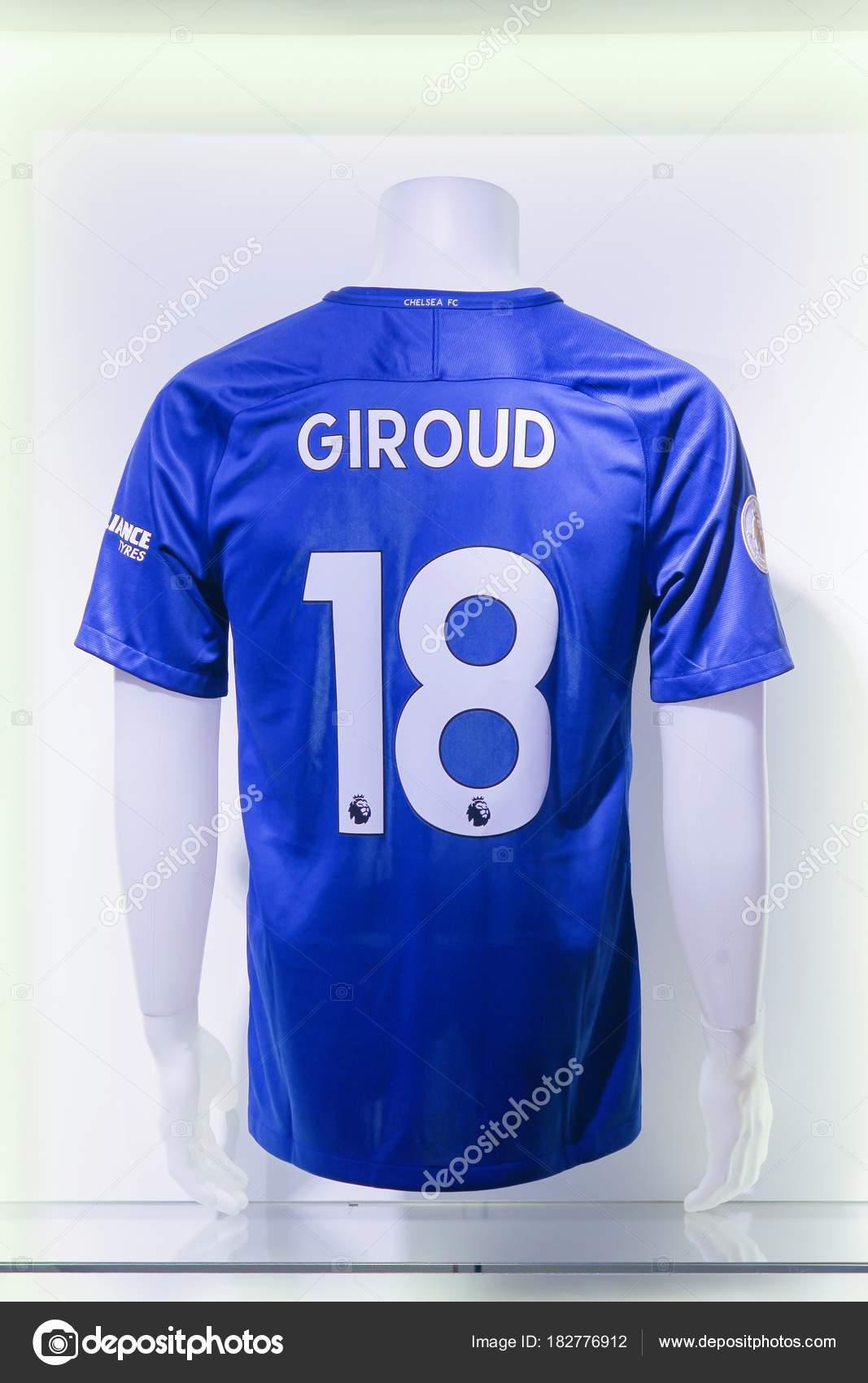 low priced afc5d 54f96 London United Kingdom February 2018 Shirt Olivier Giroud New ...