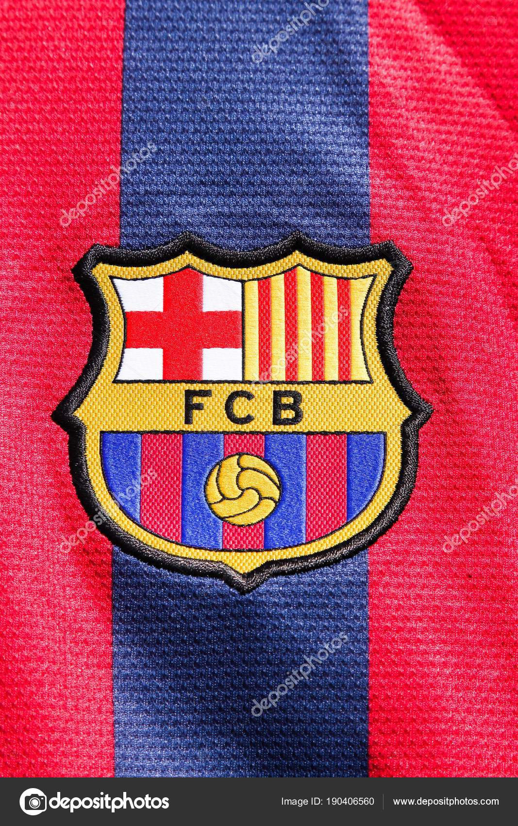 odder denmark march 2018 logo barcelona shirt barcelona professional