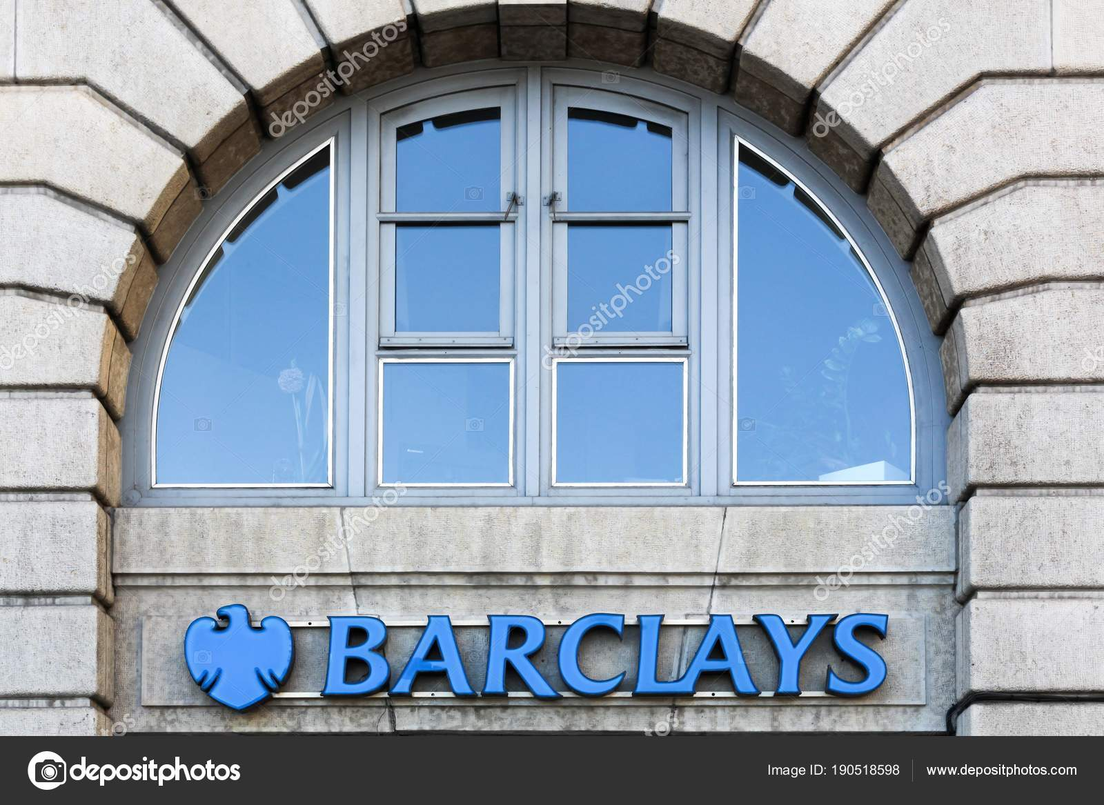 Lyon France August 2016 Barclays Bank Logo Wall Barclays