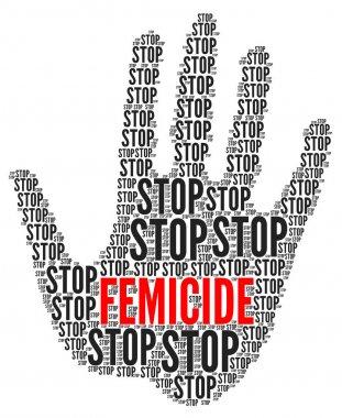 Stop femicide symbol illustration