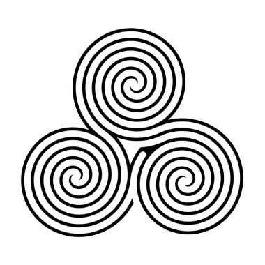 Triskelion symbol icon illustration