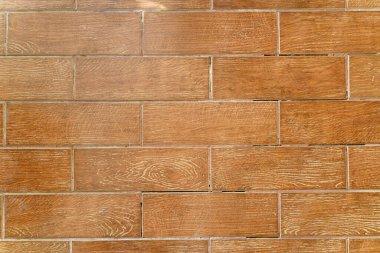brick tile floor top view
