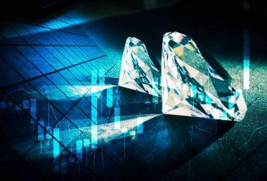 Diamonds market concept