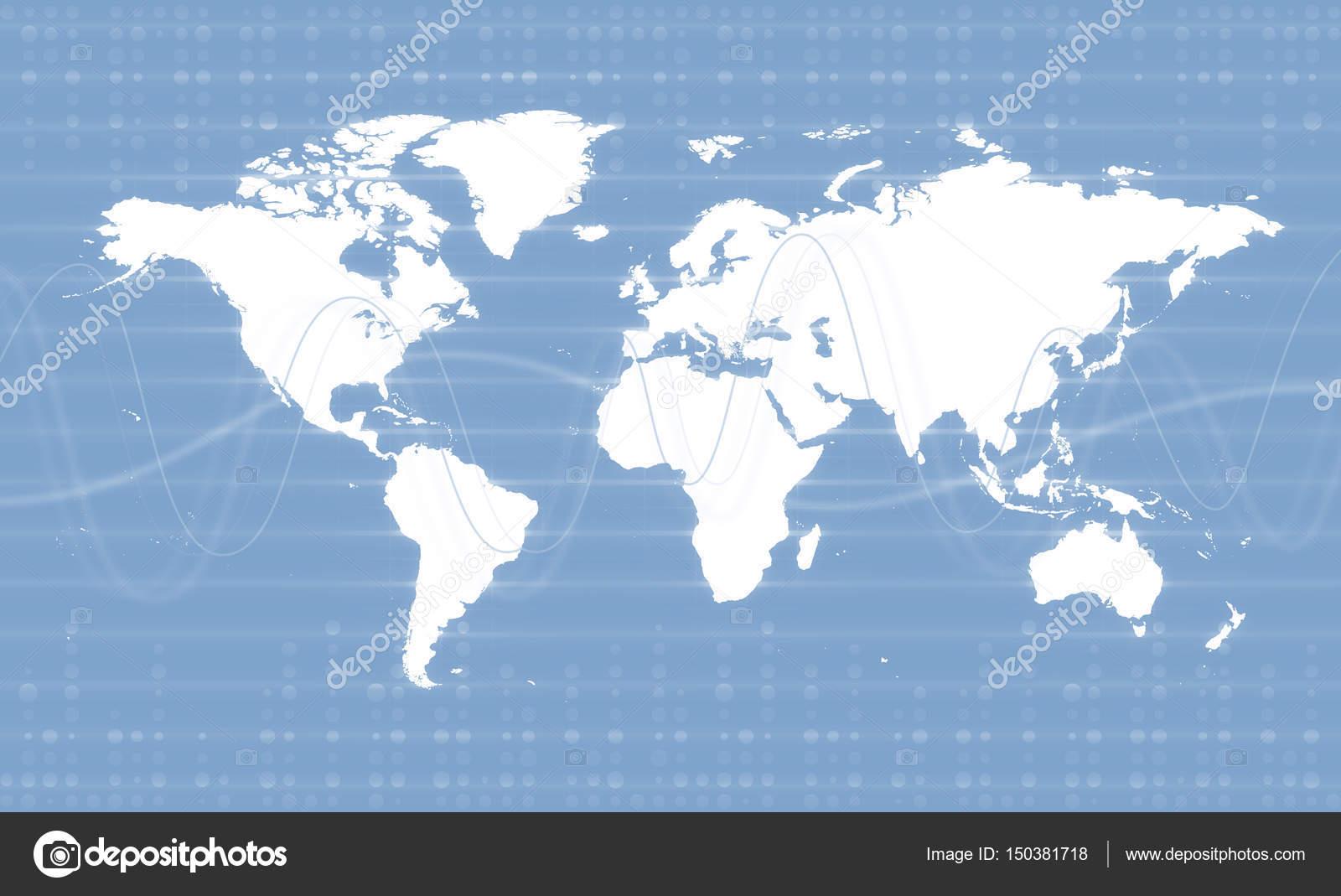 Digital World Map Business Hintergrunddesign — Stockfoto ... on