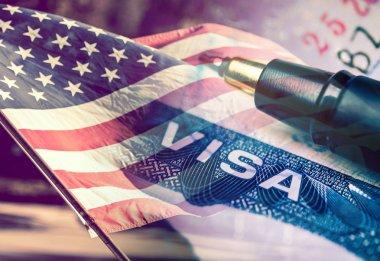 United States of America Visa Document Concept