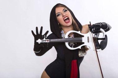 Violinist in show costume