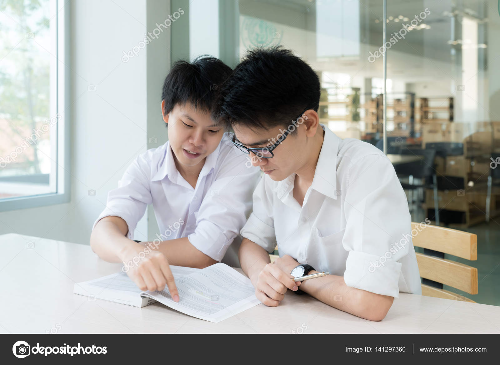 Two asian students
